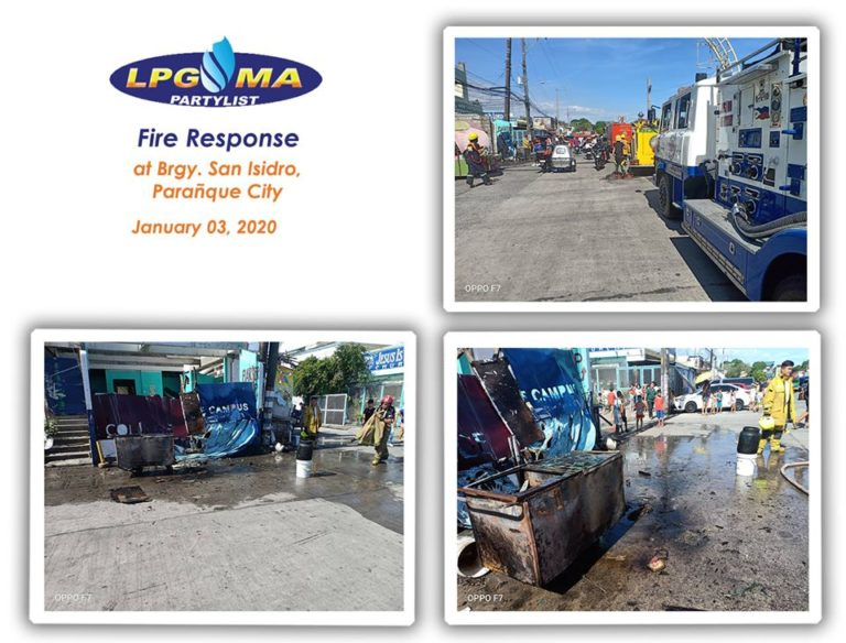 LPGMA Fire Response Team Parañaque City