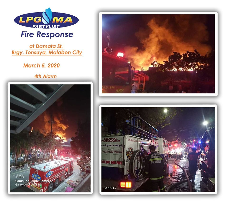 LPGMA Fire Response in Malabon