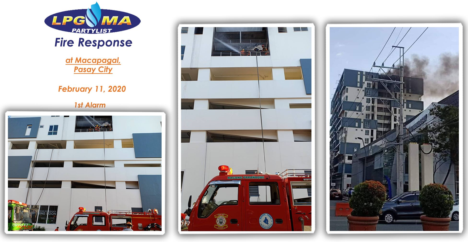 LPGMA Fire Response in Pasay