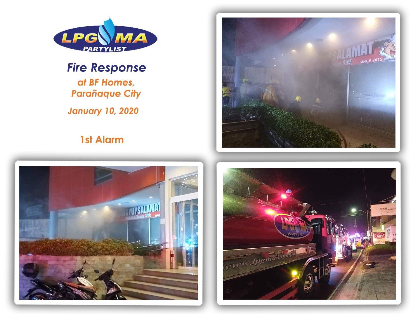 LPGMA Fire Response in BF Homes Parañaque
