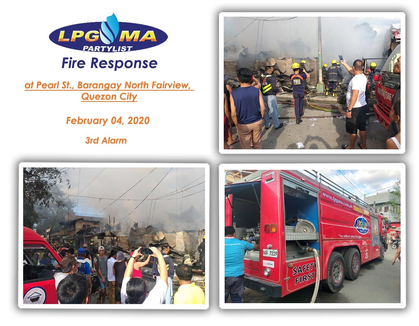 LPGMA Fire Response in Fairview, Quezon City
