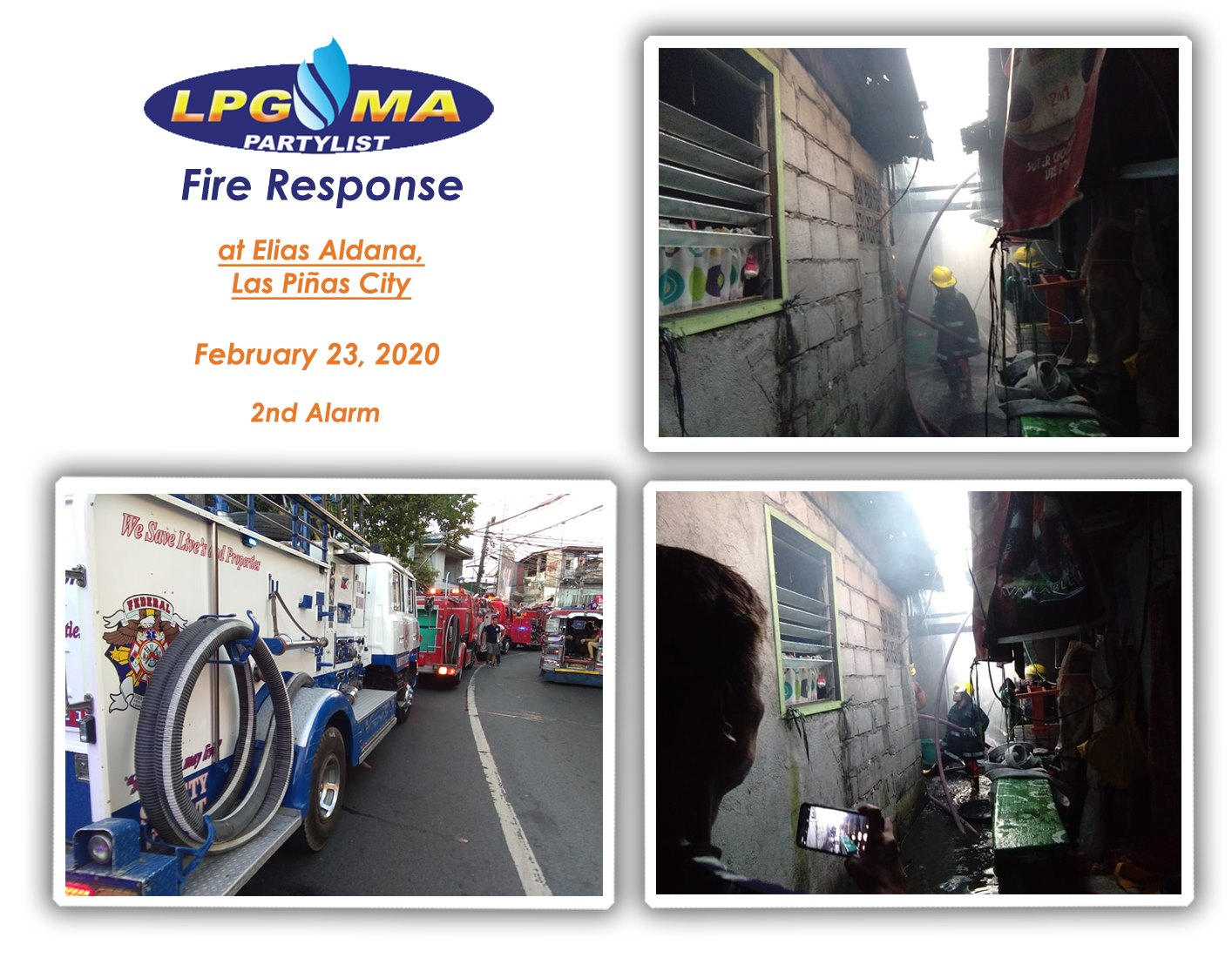 LPGMA Fire Response in Elias Aldana