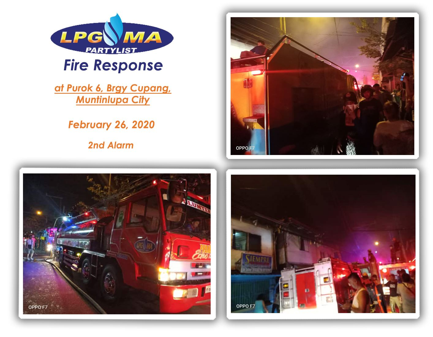 LPGMA Fire Response in Muntinlupa