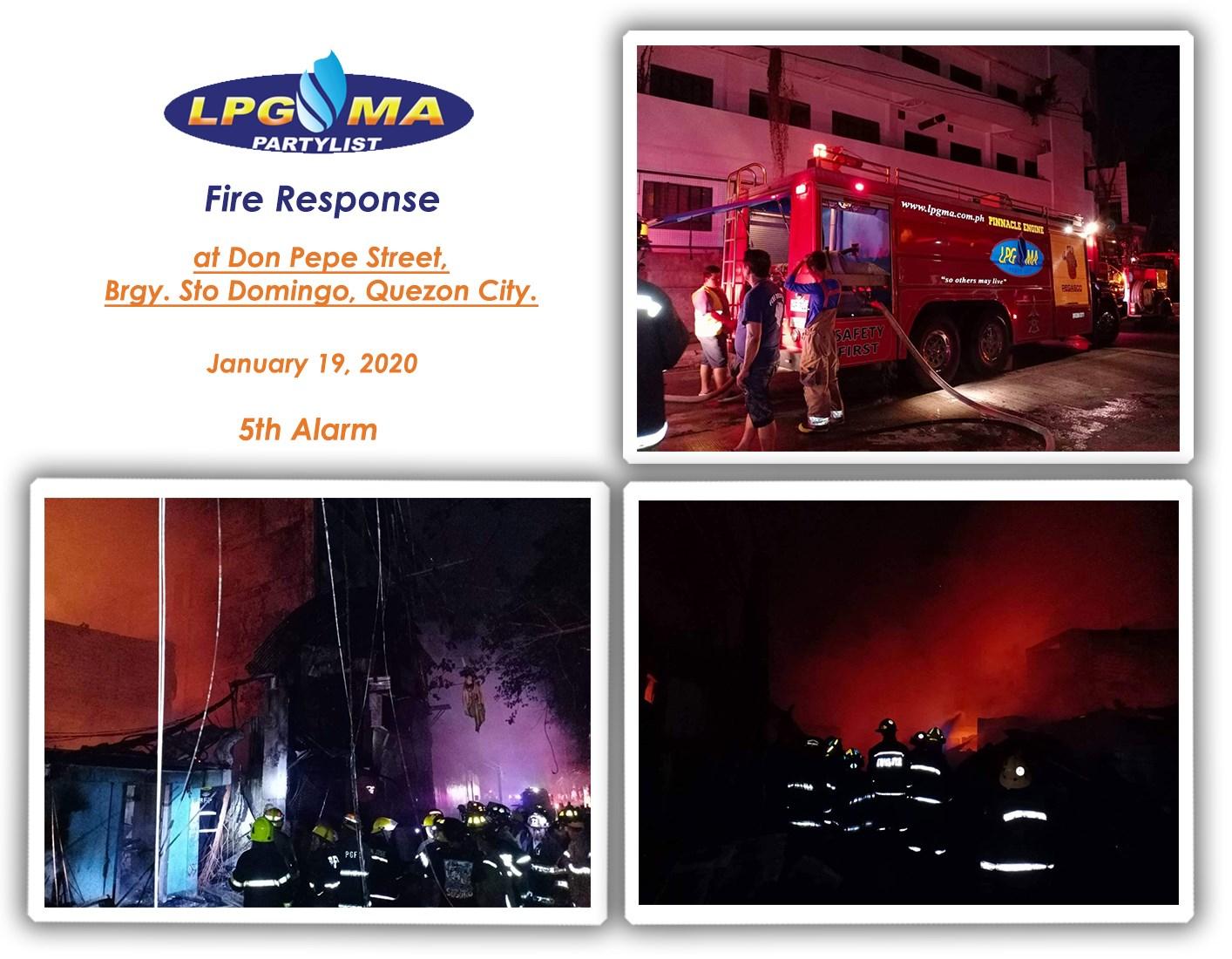 LPGMA Fire Response in Barangay Santo Domingo Quezon City
