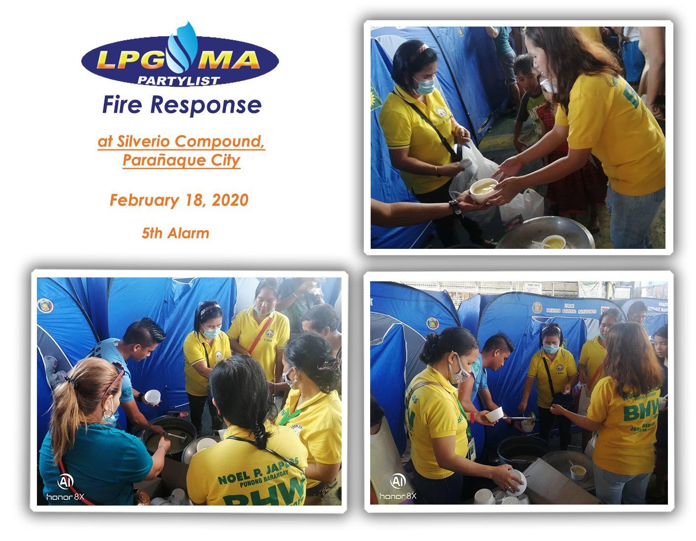 LPGMA Fire Response in Silverio Compound