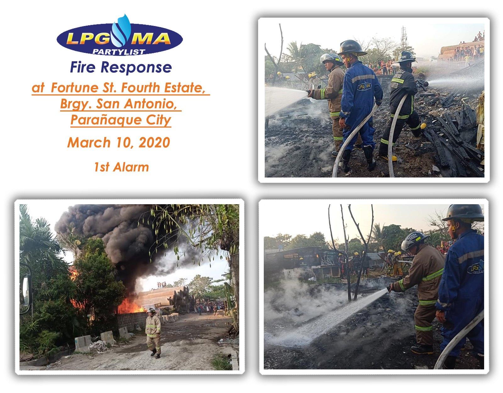 LPGMA Fire Response in Parañaque