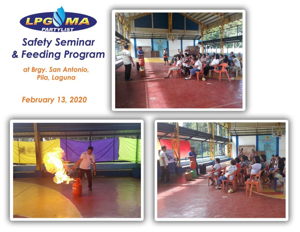 LPGMA Holds Safety Seminar and Feeding Program in Pila, Laguna