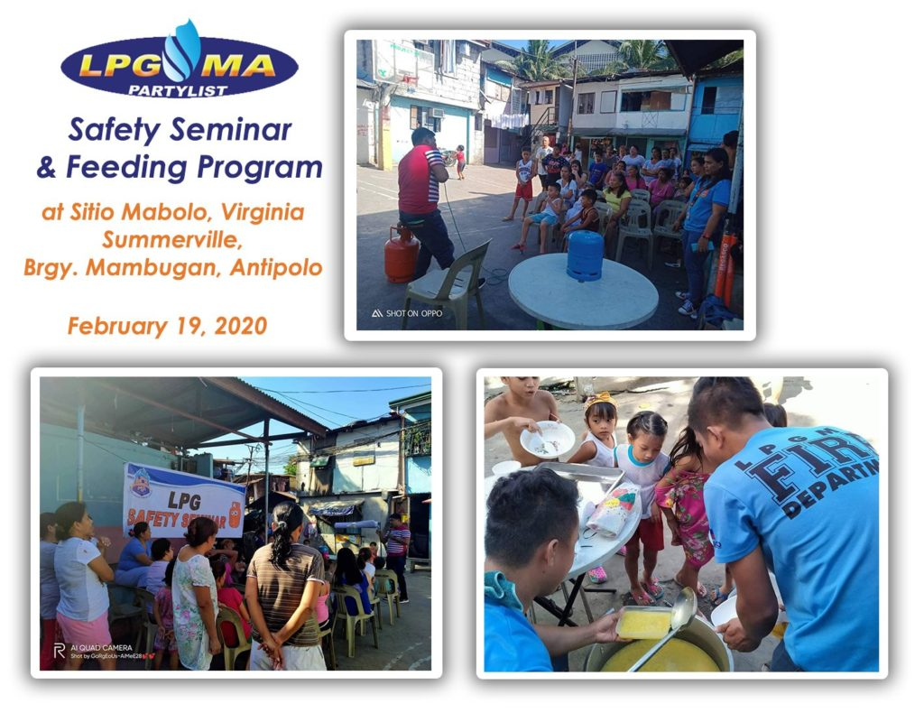 LPGMA Holds Safety Seminar and Feeding Program in Antipolo