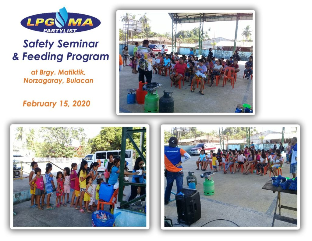 LPGMA Holds Safety Seminar and Feeding Program in Bulacan