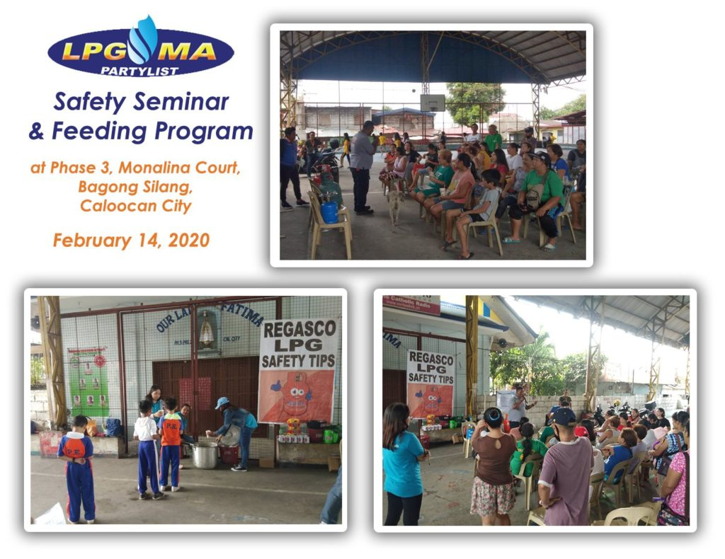 LPGMA Holds Safety Seminar and Feeding Program in Caloocan