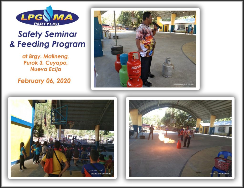 LPGMA Holds Safety Seminar and Feeding Program in Cuyapo