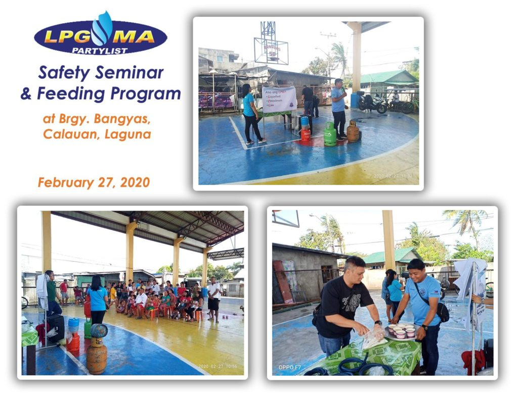 LPGMA Holds Safety Seminar and Feeding Program in Laguna
