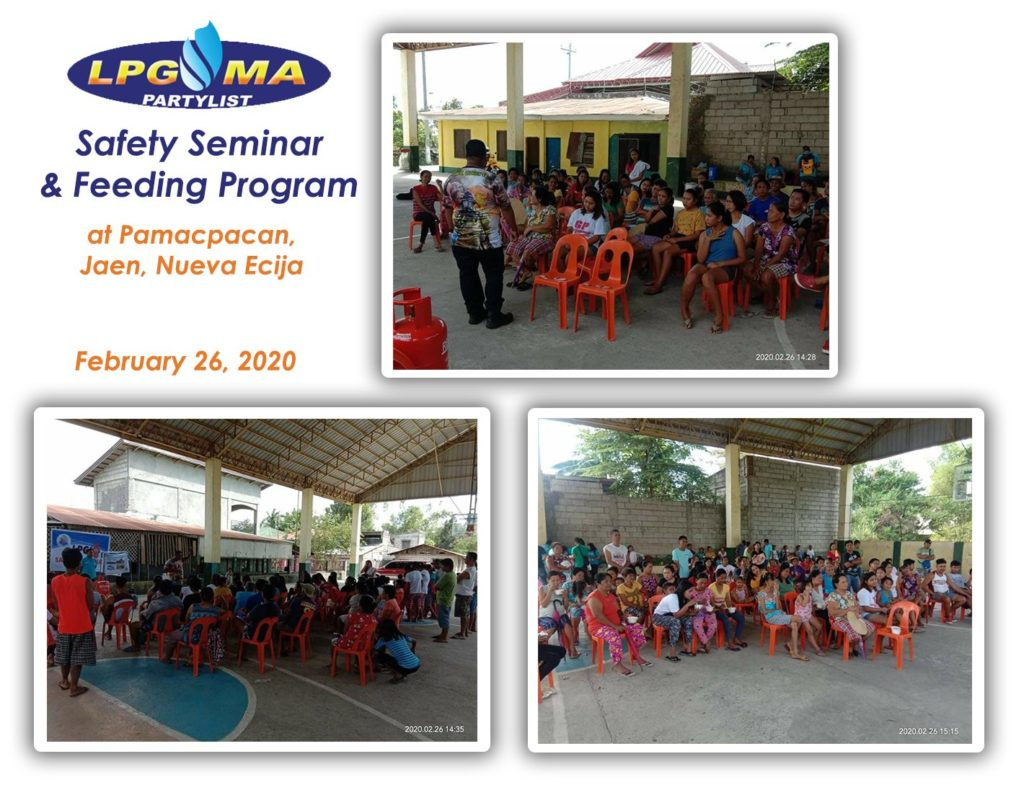 LPGMA Holds Safety Seminar and Feeding Program in Pamacpacan