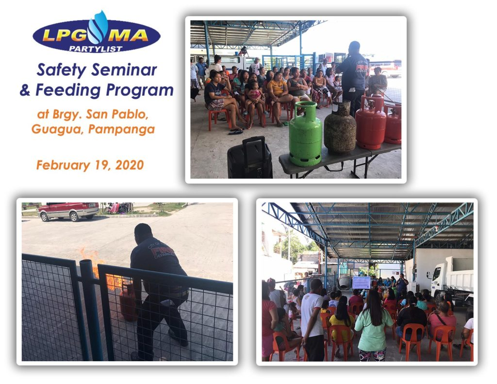 LPGMA Holds Safety Seminar and Feeding Program in Pampanga