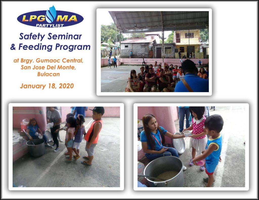 LPGMA Holds Safety Seminar and Feeding Program in San Jose, Bulacan