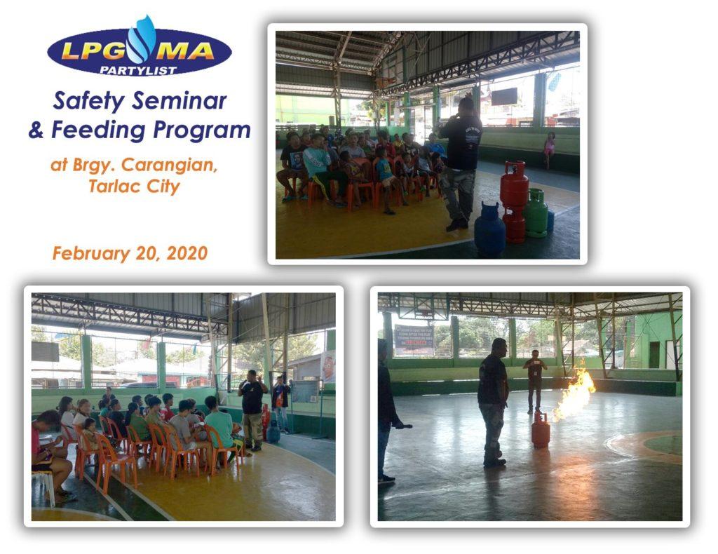 LPGMA Holds Safety Seminar and Feeding Program in Tarlac